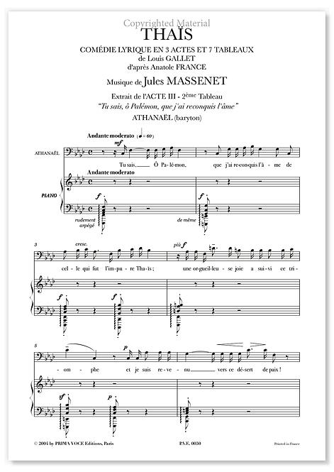 """Massenet • THAÏS • """"Tu sais, ô Palémon, que j'ai reconquis l'âme"""" (baryton)"""