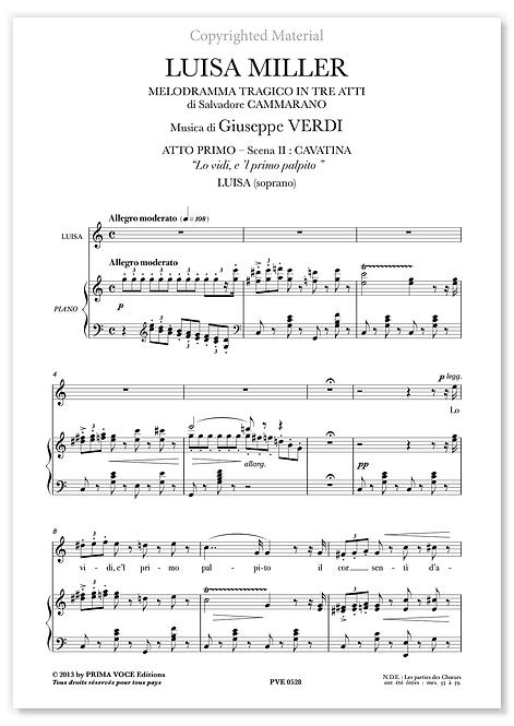 """Verdi • LUISA MILLER • """"Lo vidi, e 'l primo palpito"""" (soprano)"""
