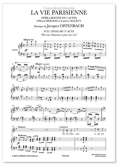 """Offenbach • VIE PARISIENNE (LA) • """"Par nos chansons et par nos cris"""" (choeurs)"""