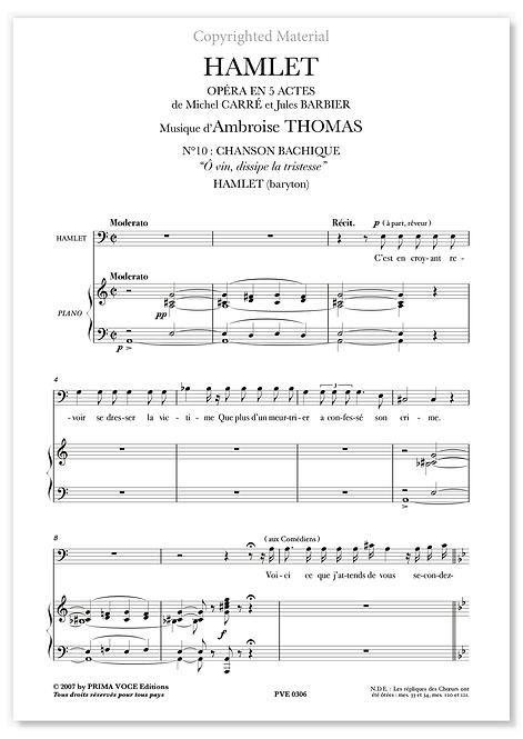 """Thomas • HAMLET • """"Ô vin, dissipe la tristesse"""" (baryton)"""