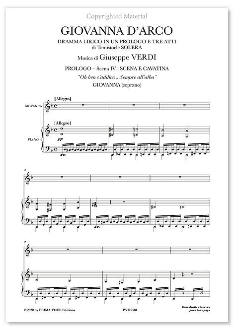 """Verdi • GIOVANNA D'ARCO • """"Oh ben s'addice... Sempre all'alba"""" (soprano)"""