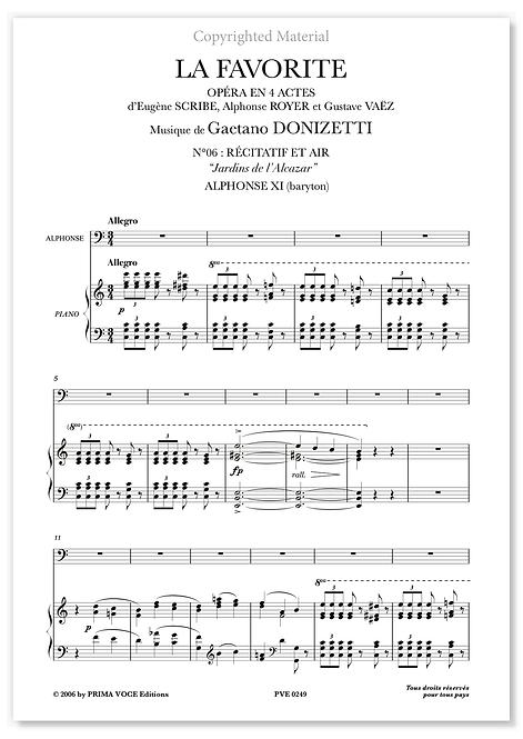 "Donizetti • FAVORITE (LA) • ""Jardins de l'Alcazar"" (baryton)"