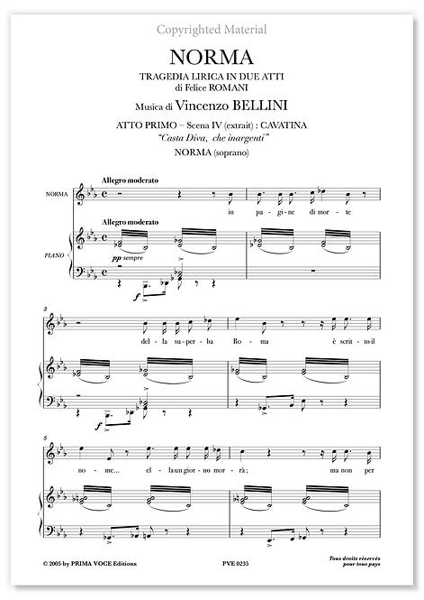 """Bellini • NORMA • """"Casta Diva, che inargenti"""" (soprano)"""