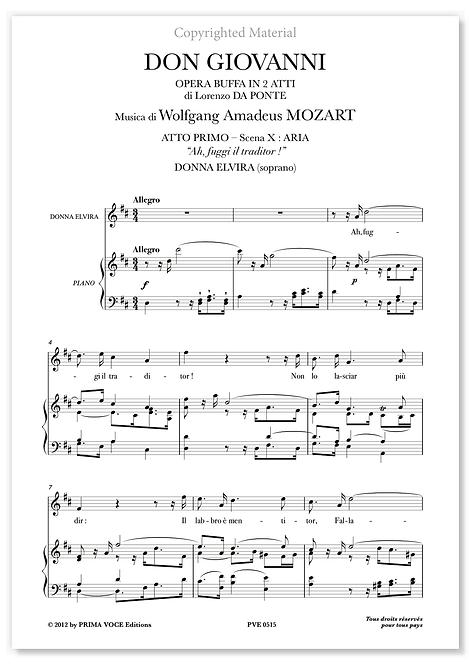 """Mozart • DON GIOVANNI • """"Ah, fuggi il traditor !"""" (soprano)"""