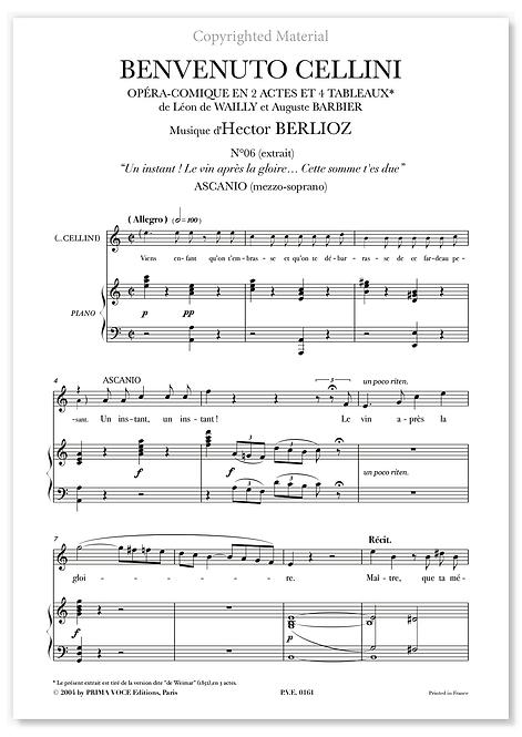 """Berlioz • BENVENUTO CELLINI – """"Cette somme t'est due"""" (mezzo-soprano)"""