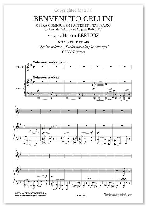 """Berlioz • BENVENUTO CELLINI • """"Sur les monts les plus sauvages"""" (ténor)"""