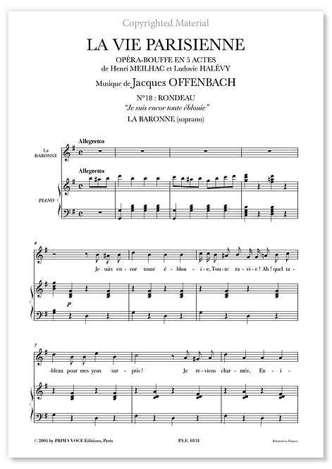 """Offenbach • VIE PARISIENNE (LA) • """"Je suis encor toute éblouie"""" (soprano)"""