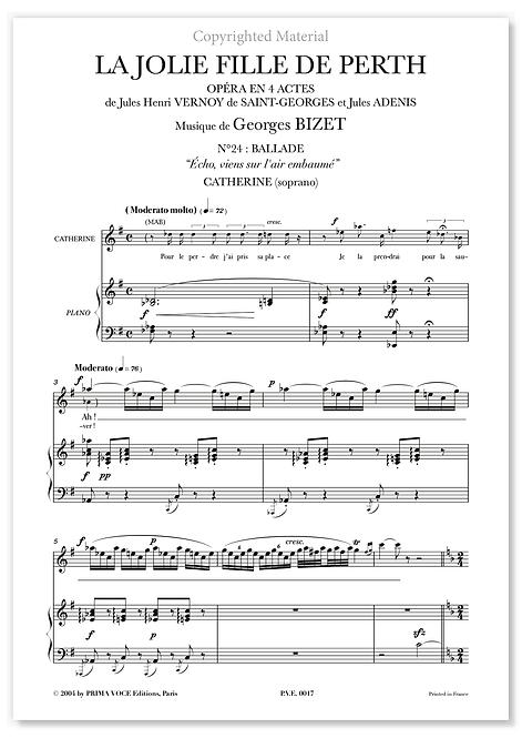 """Bizet • JOLIE FILLE DE PERTH  (LA) • """"Écho, viens sur l'air embaumé"""" (soprano)"""