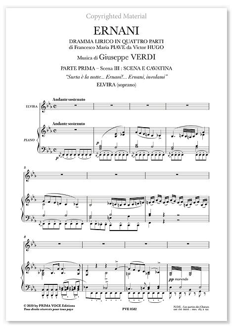 "Verdi • ERNANI • ""Surta è la notte..."" (soprano)"