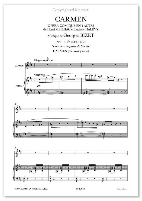 """Bizet • CARMEN • """"Près des remparts de Séville"""" (mezzo-soprano)"""