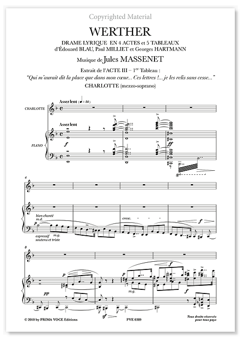 "Massenet • WERTHER • ""Ces lettres !... ces lettres !..."" (mezzo-soprano)"