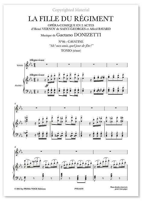 """Donizetti • FILLE DU RÉGIMENT (LA) • """"Ah ! mes amis, quel jour de fête !""""(ténor)"""