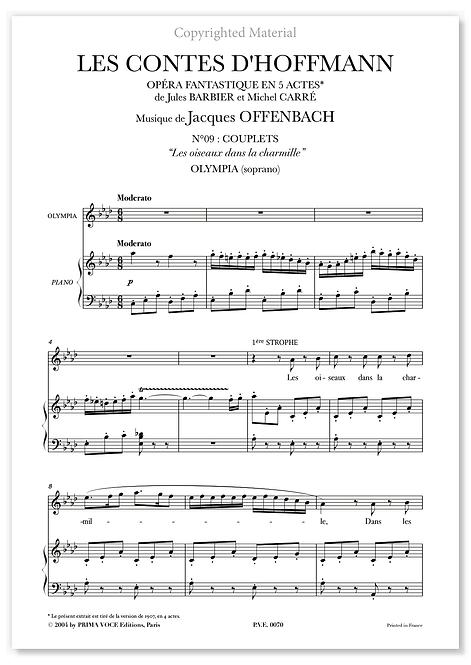 """Offenbach • CONTES D'HOFFMANN (LES) • """"Les oiseaux dans la charmille"""" (soprano)"""