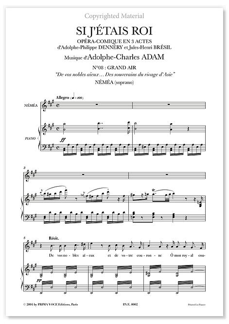 """Adam • SI J'ÉTAIS ROI • """"Des souverains du rivage d'Asie"""" (soprano)"""
