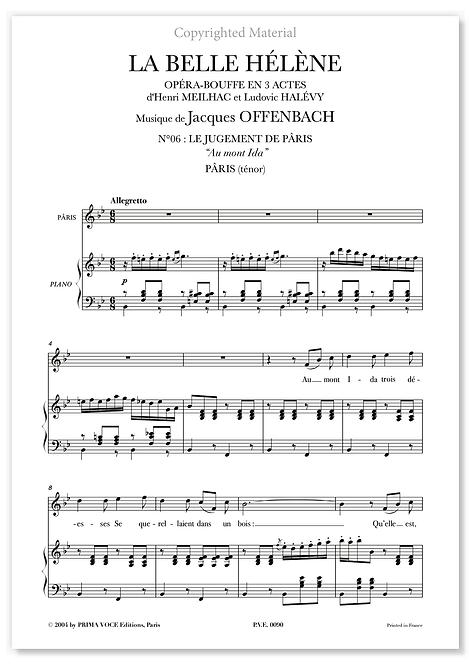 """Offenbach • BELLE HÉLÈNE (LA) • """"Au mont Ida"""" (ténor)"""