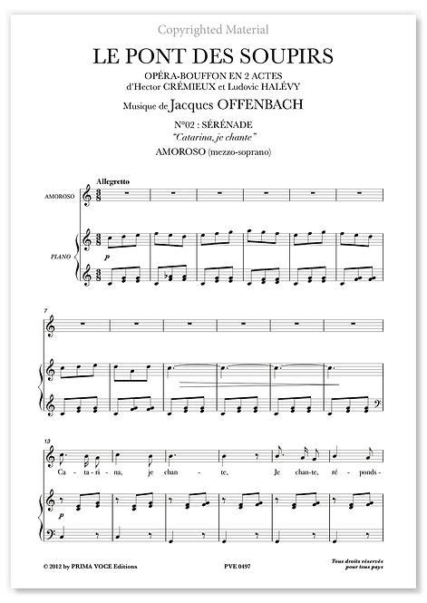 """Offenbach • PONT DES SOUPIRS (LE) • """"Catarina, je chante"""" (mezzo-soprano)"""