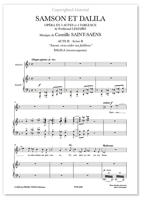 "Saint-Saëns • SAMSON ET DALILA • ""Amour, viens aider ma faiblesse"" (mezzo)"