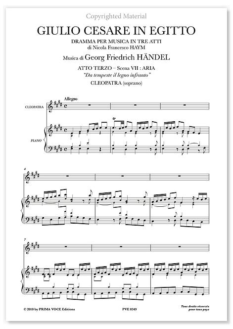 """Händel • GIULIO CESARE IN EGITTO • """"Da tempeste il legno infranto"""" (soprano)"""