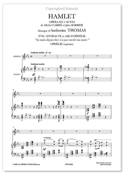 "Thomas • HAMLET • ""Sa main depuis hier n'a pas touché ma main!"" (soprano)"