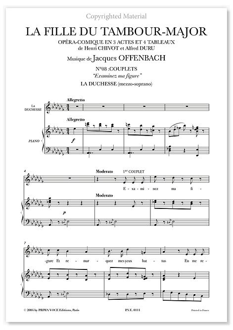 """Offenbach • FILLE DU TAMBOUR-MAJOR (LA) • """"Examinez ma figure"""" (mezzo-soprano)"""