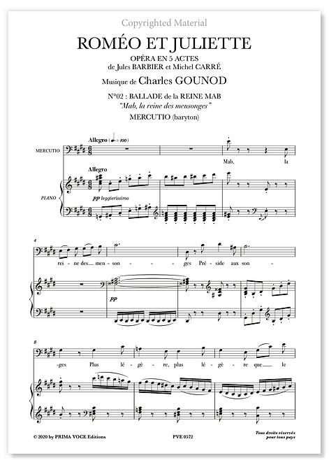 """Gounod • ROMÉO ET JULIETTE • """"Mab, la reine des mensonges"""" (baryton)"""
