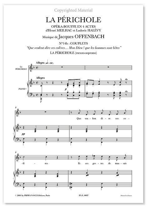 """Offenbach • PÉRICHOLE (LA) • """"Mon Dieu ! que les hommes sont bêtes"""" (mezzo)"""