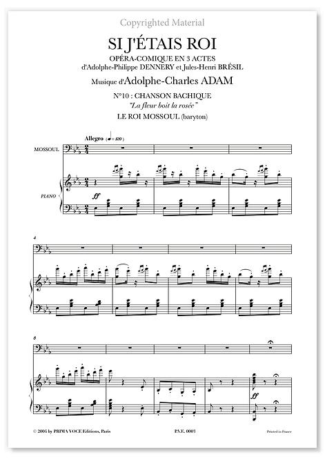 """Adam • SI J'ÉTAIS ROI • """"La fleur boit la rosée"""" (baryton)"""