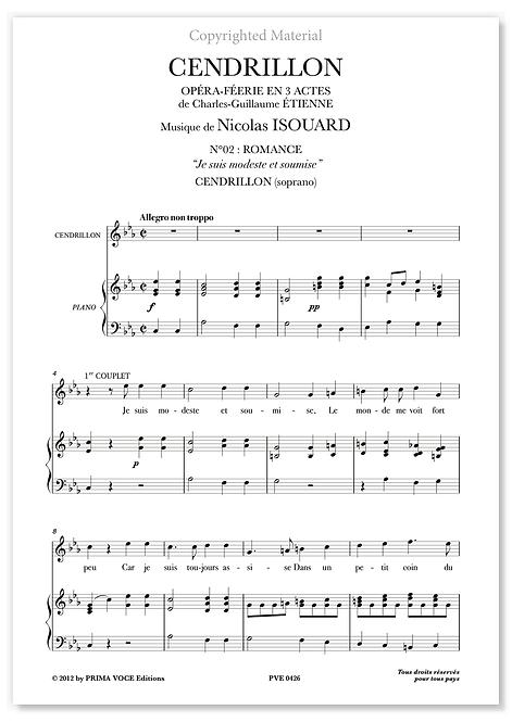 "Isouard • CENDRILLON • ""Je suis modeste et soumise"" (soprano)"