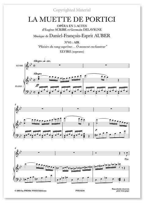 """Auber • MUETTE DE PORTICI (LA) – """"Ô moment enchanteur"""" (soprano)"""