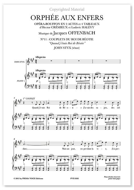 """Offenbach • ORPHÉE AUX ENFERS • """"Quand j'étais Roi de Béotie"""" (ténor)"""