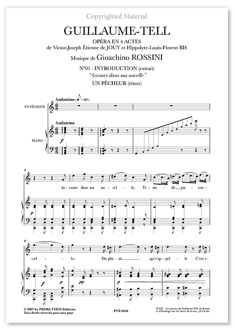"Rossini • GUILLAUME•TELL • ""Accours dans ma nacelle"" (ténor)"