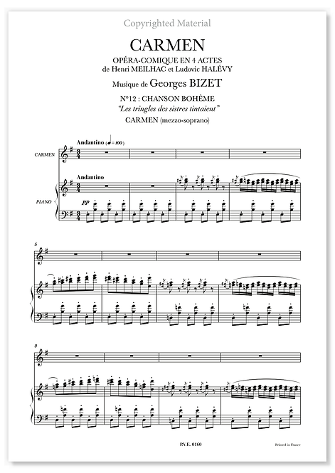 "Bizet • CARMEN • ""Les tringles des sistres tintaient"" (mezzo-soprano)"