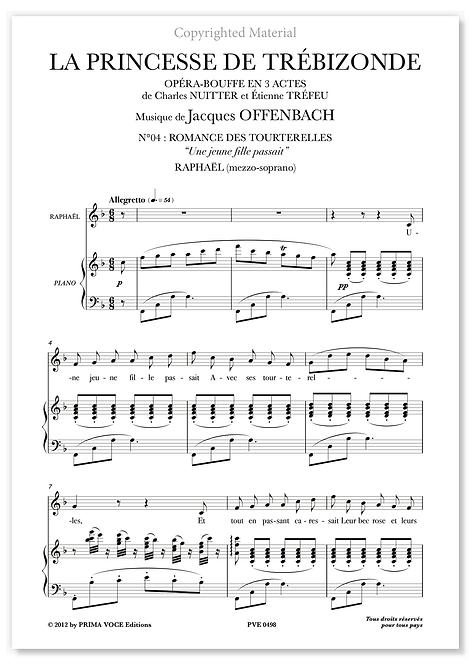 """Offenbach • PRINCESSE DE TRÉBIZONDE (LA) • """"Une jeune fille passait"""" (mezzo.)"""