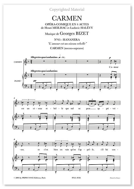 """Bizet • CARMEN • """"L'amour est un oiseau rebelle"""" (mezzo-soprano)"""
