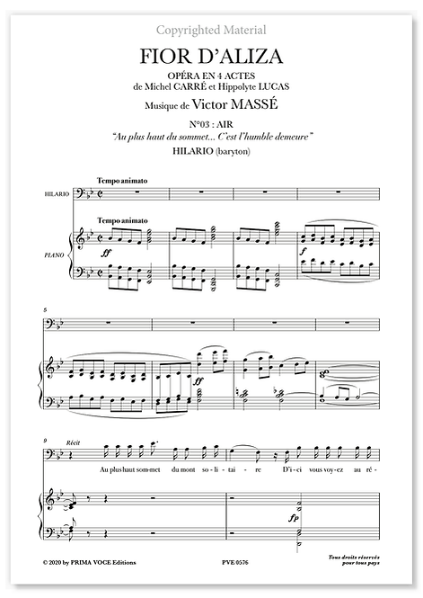 "Massé • FIOR D'ALIZA • ""C'est l'humble demeure"" (baryton)"