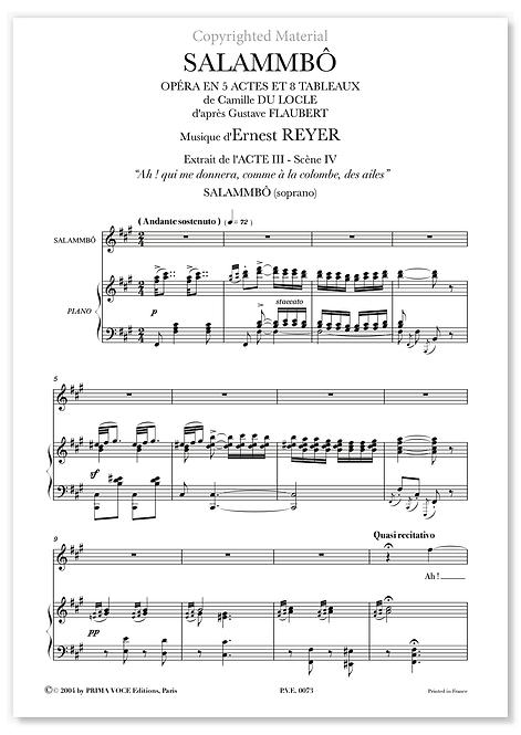 "Reyer • SALAMMBÔ • ""Ah ! qui me donnera"" (soprano)"