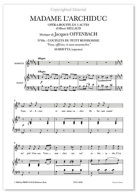 """Offenbach • MADAME L'ARCHIDUC • """"Vous, officier, et sans moustaches"""" (soprano)"""