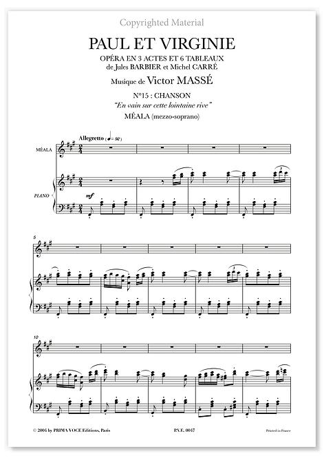 """Massé • PAUL ET VIRGINIE • """"En vain sur cette lointaine rive"""" (mezzo-soprano)"""