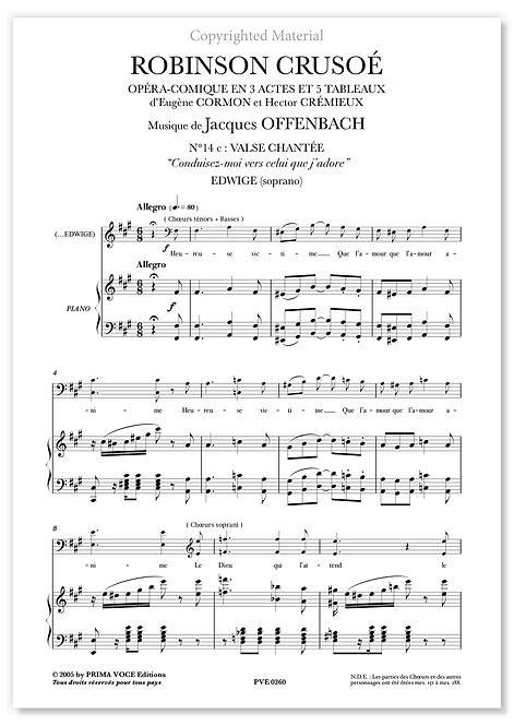 """Offenbach • ROBINSON CRUSOÉ • """"Conduisez-moi vers celui que j'adore"""" (soprano)"""