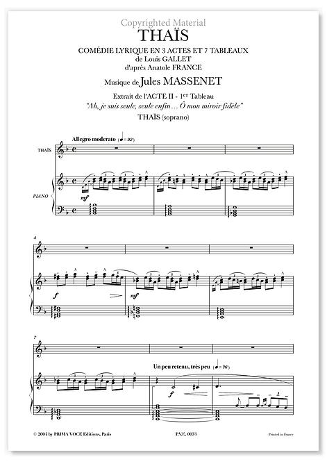 """Massenet • THAÏS • """"Ô mon miroir fidèle"""" (soprano)"""