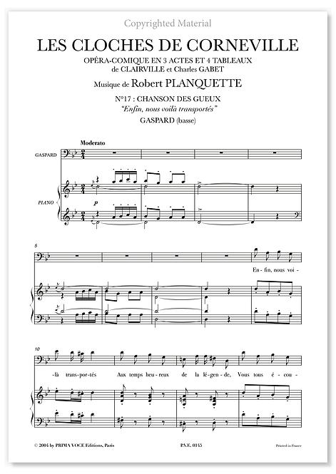 """Planquette • CLOCHES DE CORNEVILLE (LES) """"Enfin, nous voilà transportés"""" (basse)"""