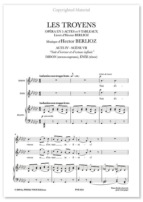 """Berlioz • TROYENS (LES) • """"Nuit d'ivresse et d'extase infinie"""" (mezzo/tén.)"""