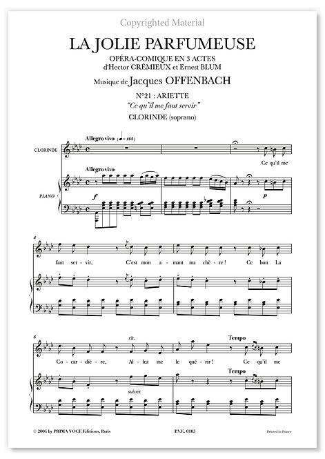 """Offenbach • JOLIE PARFUMEUSE (LA) • """"Ce qu'il me faut servir"""" (soprano)"""