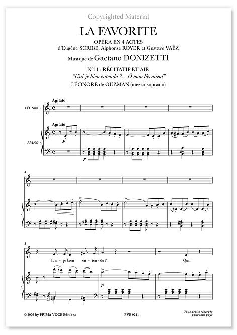 """Donizetti • FAVORITE (LA) – """"Ô mon Fernand"""" (mezzo-soprano)"""