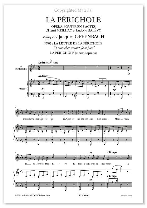 """Offenbach • PÉRICHOLE (LA) • """"Ô mon cher amant, je te jure"""" (mezzo-soprano)"""