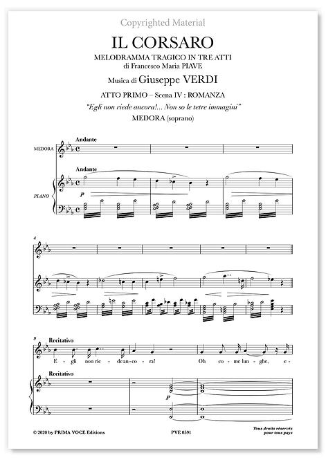 """Verdi • CORSARO (IL) • """"Egli non riede ancora!.."""" (soprano)"""
