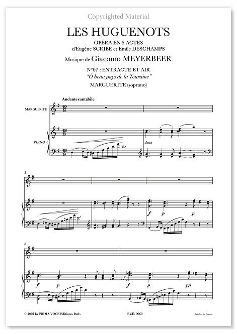 """Meyerbeer • HUGUENOTS (LES) • """"Ô beau pays de la Touraine"""" (soprano)"""