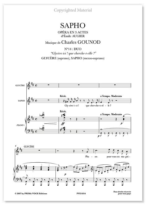 """Gounod • SAPHO • """"Glycère ici! Que cherche-t-elle?"""" (sop./mezzo)"""