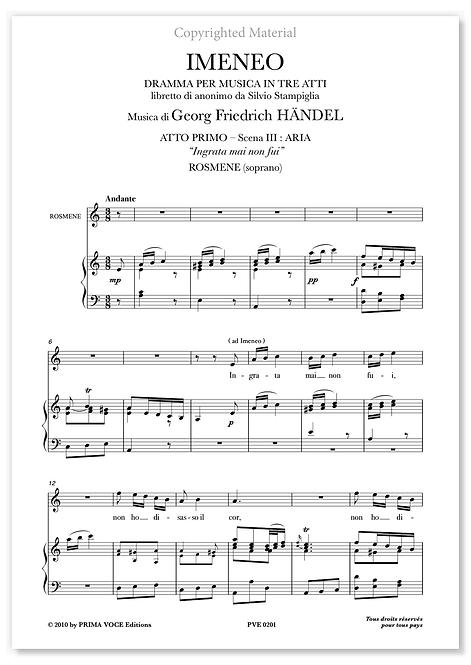 """Händel • IMENEO • """"Ingrata mai non fui"""" (soprano)"""