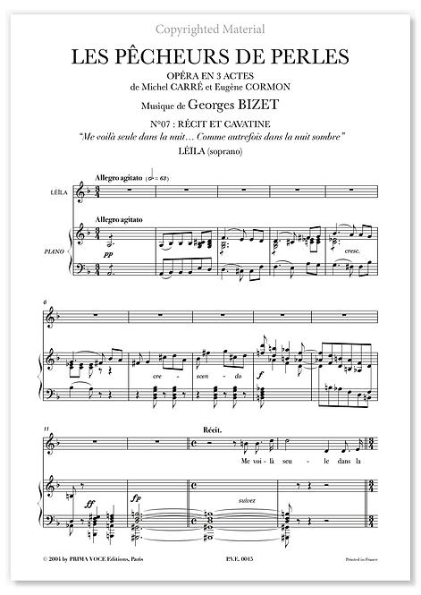 """Bizet • PÊCHEURS DE PERLES (LES) • """"Comme autrefois dans la nuit sombre"""" (sop)"""